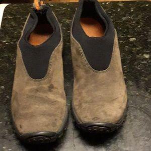 Merrill UNISEX Brown Suede Comfortable Hiking Shoe